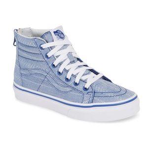 Vans girls Sk8-Hi Zip Sneaker size 11